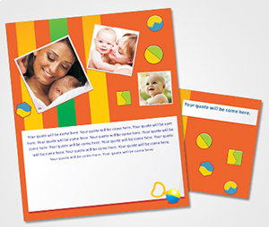 Note Cards printing Baby Shower Invitations