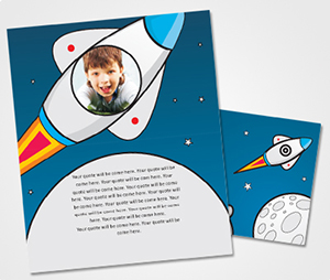 Note Cards printing Rockets and Stars