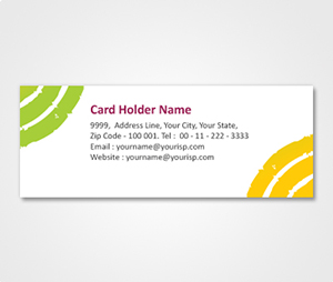Address Labels printing Yellow and Green Corner