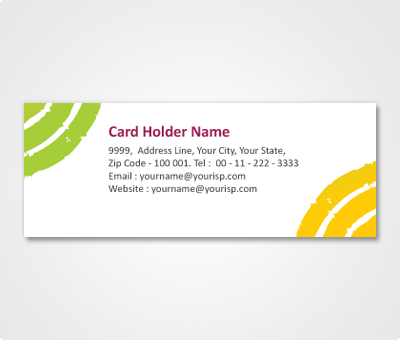 Online Address Labels printing Yellow and Green Corner
