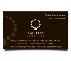 Business Card printing Jewellery Shop