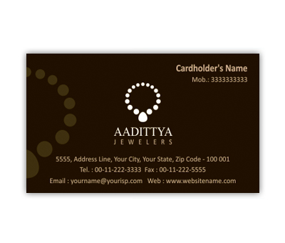 Online Business Card printing Jewellery Shop