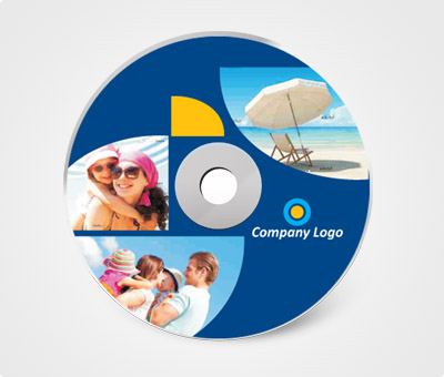 Online CD / DVD Stickers printing Navy Blue Background and Pictures