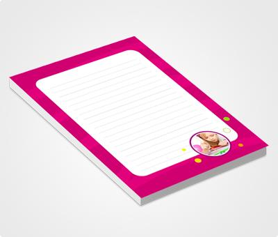 Online Notepads printing Magenta Color & Stars