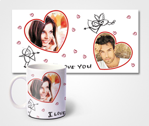 Mugs printing Valentines Special