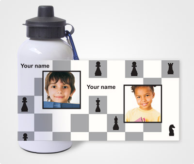 Water Bottles Design for Chess Theme Offset or Digital printing