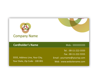 Online Business Card printing Health Care Industry