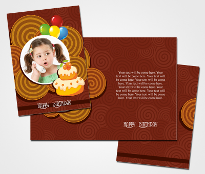 Online Greeting Card printing Birthday Greeting Card