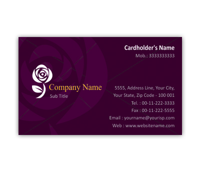 Business Card Design For Fashion Boutique Offset Or Digital Printing