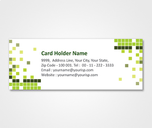 Address Labels printing Colorful Blocks