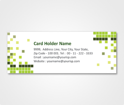 Online Address Labels printing Colorful Blocks