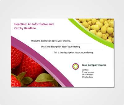 Online Exhibition Banners printing Food Marketing