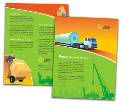Online Single Page Brochures printing Worldwide Logistics