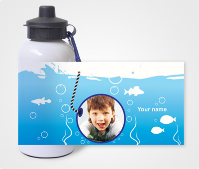Online Water Bottles printing Underwater Theme