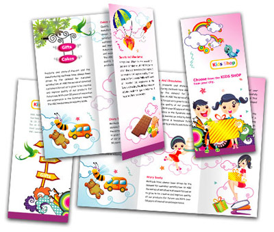 Online Brochures Two Fold printing Kids Store