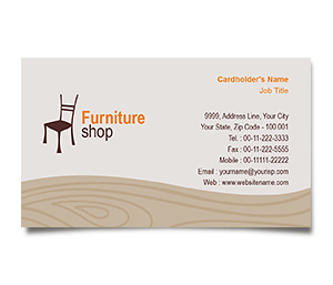 Business Card printing Furniture Bazaar