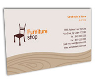 Online Business Card printing Furniture Bazaar