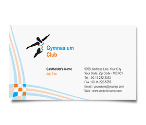 Business Card printing Gymnasium Club