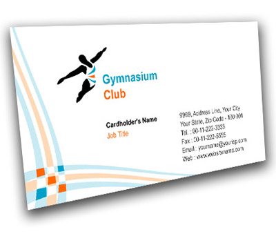 Online Business Card printing Gymnasium Club