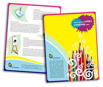 Online Single Page Brochures printing School of Arts