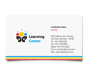 Business Card printing Learning Educational