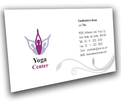 Online Business Card printing Yoga House