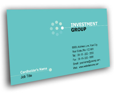 Online Business Card printing Investment Financial