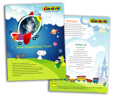 Brochure printing Kids Activities