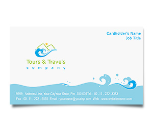Business Card printing Adventure Tours