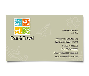 Business Card printing Tours Travel