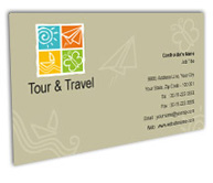 Online Business Card printing Tours Travel