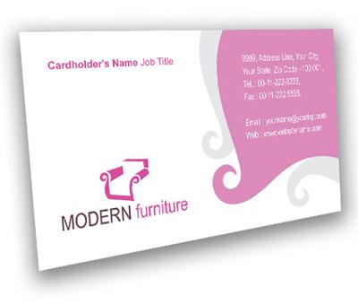 Online Business Card printing Living Room Furniture