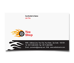 Business Card printing Tire Treads