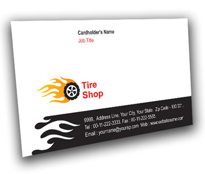 Online Business Card printing Tire Treads