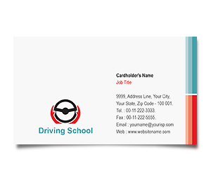 Business Card printing Advanced Driving School