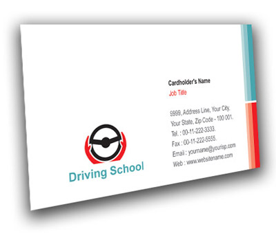 Online Business Card printing Advanced Driving School