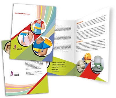 Online Brochures One Fold printing Cleaning Service Industry