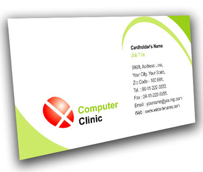 Online Business Card printing Computer clinic