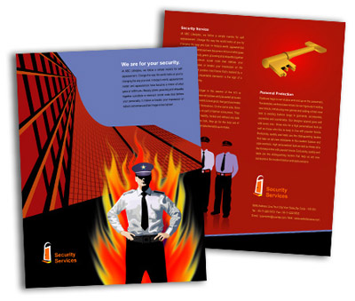 Online Single Page Brochures printing Security System House
