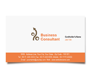 Business Card printing Finance and Investment Planner