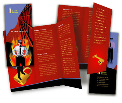 Online Brochures Two Fold printing Security System House