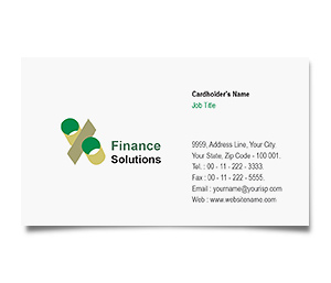 Business Card printing Finance Solution