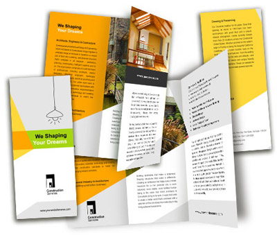 Brochure printing Wooden Construction