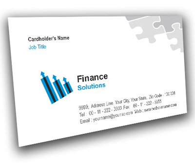 Online Business Card printing Finance Consulting