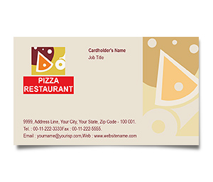 Business Card printing Pizza Restaurant