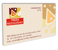 Online Business Card printing Pizza Restaurant