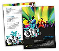 Online Brochure printing Rock Band