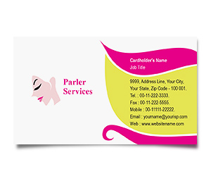 Business Card printing Fashion Hair Salon