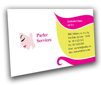 Online Business Card printing Fashion Hair Salon