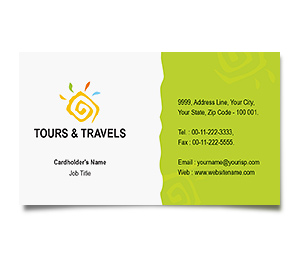 Business Card printing Sightseeing Tours